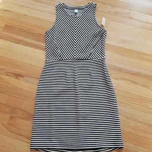 black and white striped old navy dress
